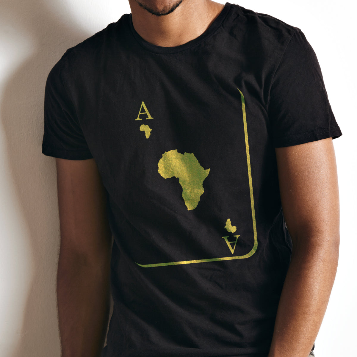 The Ace Alpha, Black and Old Gold Tee