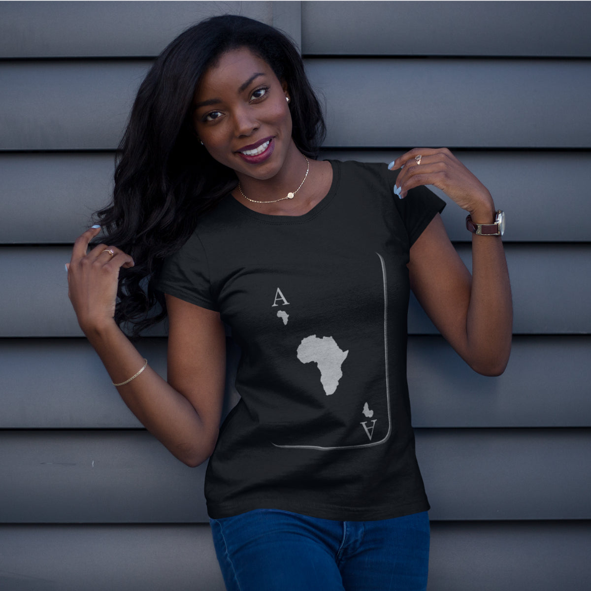 Ace Woman - Africa Fitted Tee