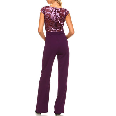 African Lace Jumpsuit - Back