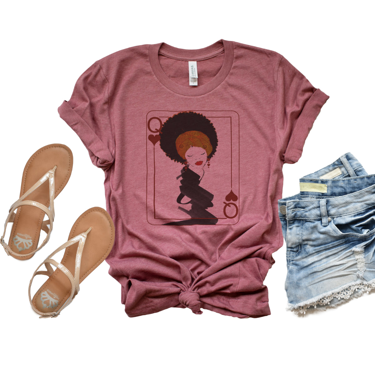 Afro Queen of Hearts - Relaxed  Fit Tee