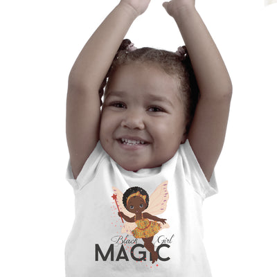 Black Girl Magic - Short sleeve kids t-shirt (Ages 2 - 6)