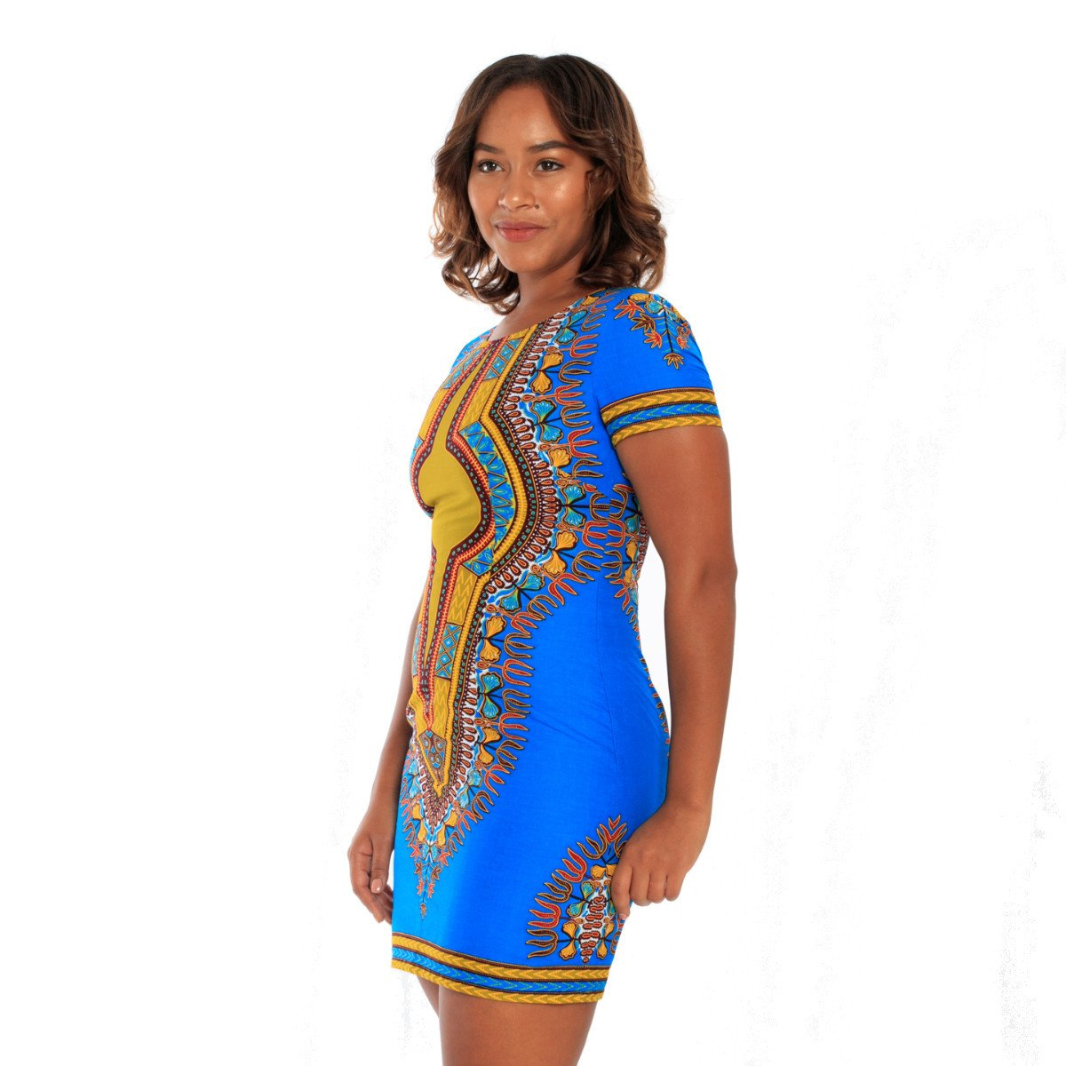 a2b5465d1fed Dashiki Blue or Red Mini Dress - Kayarize