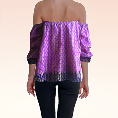 Cocktail Hour African Print Top