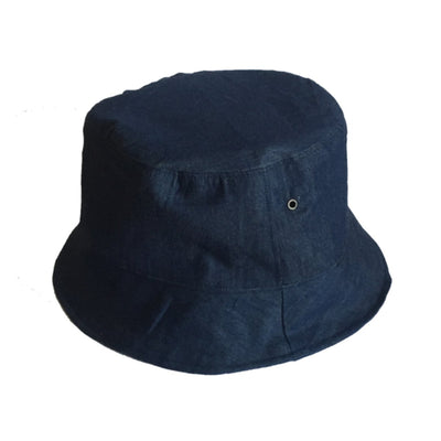 Reversible Denim Kente Bucket Hat