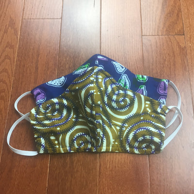 African head wrap + matching face mask| Kitenge Face Mask| Ankara Head wrap |100% Cotton Face Mask with Filter Pocket | African Turban