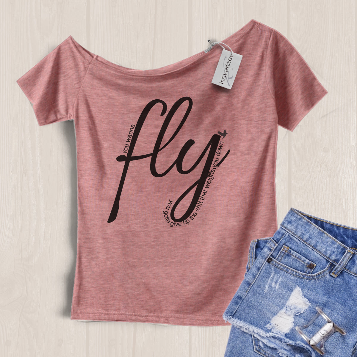 Fly  - Off the Shoulder Tee