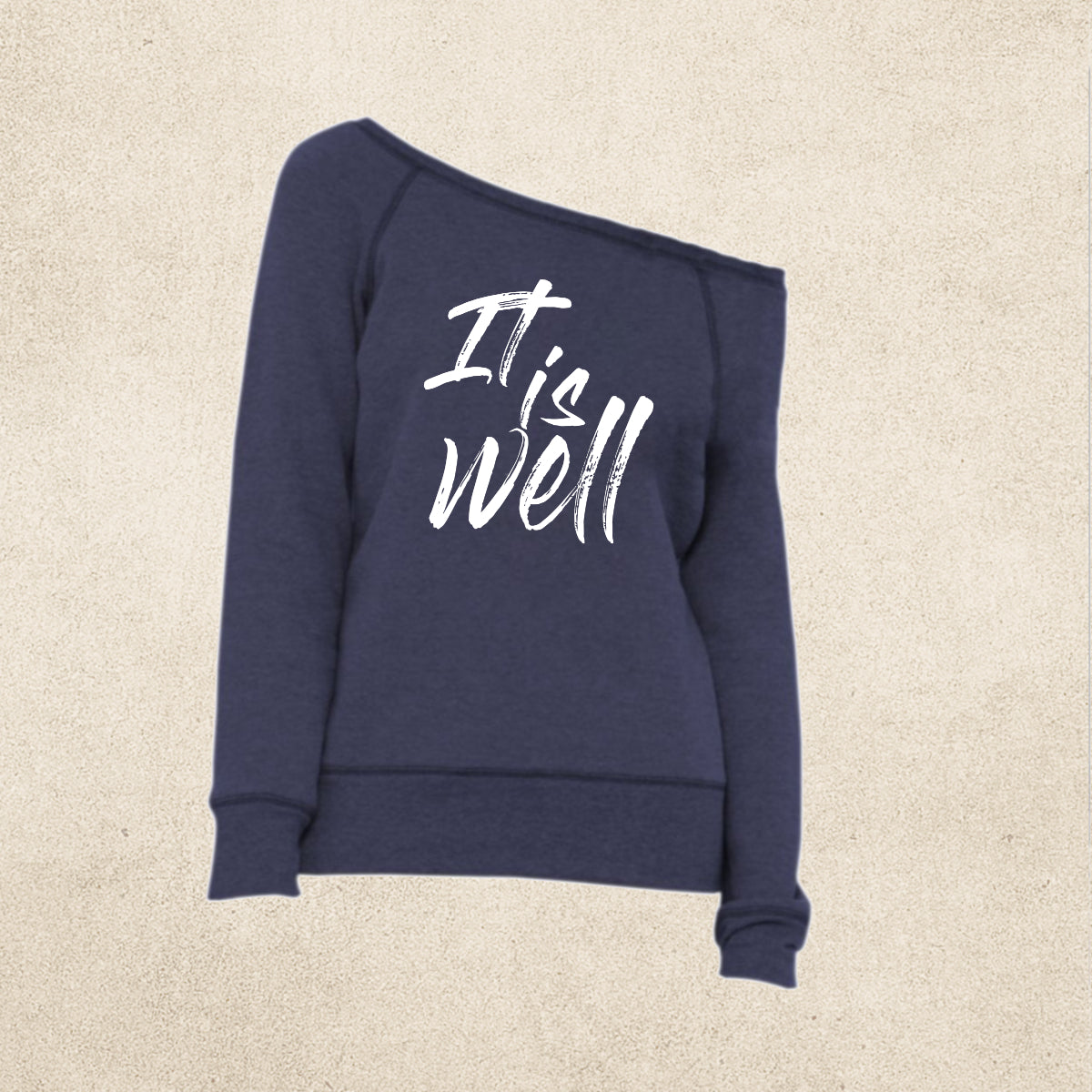 It Is Well -   Women's Sponge Fleece Wide Neck Sweatshirt