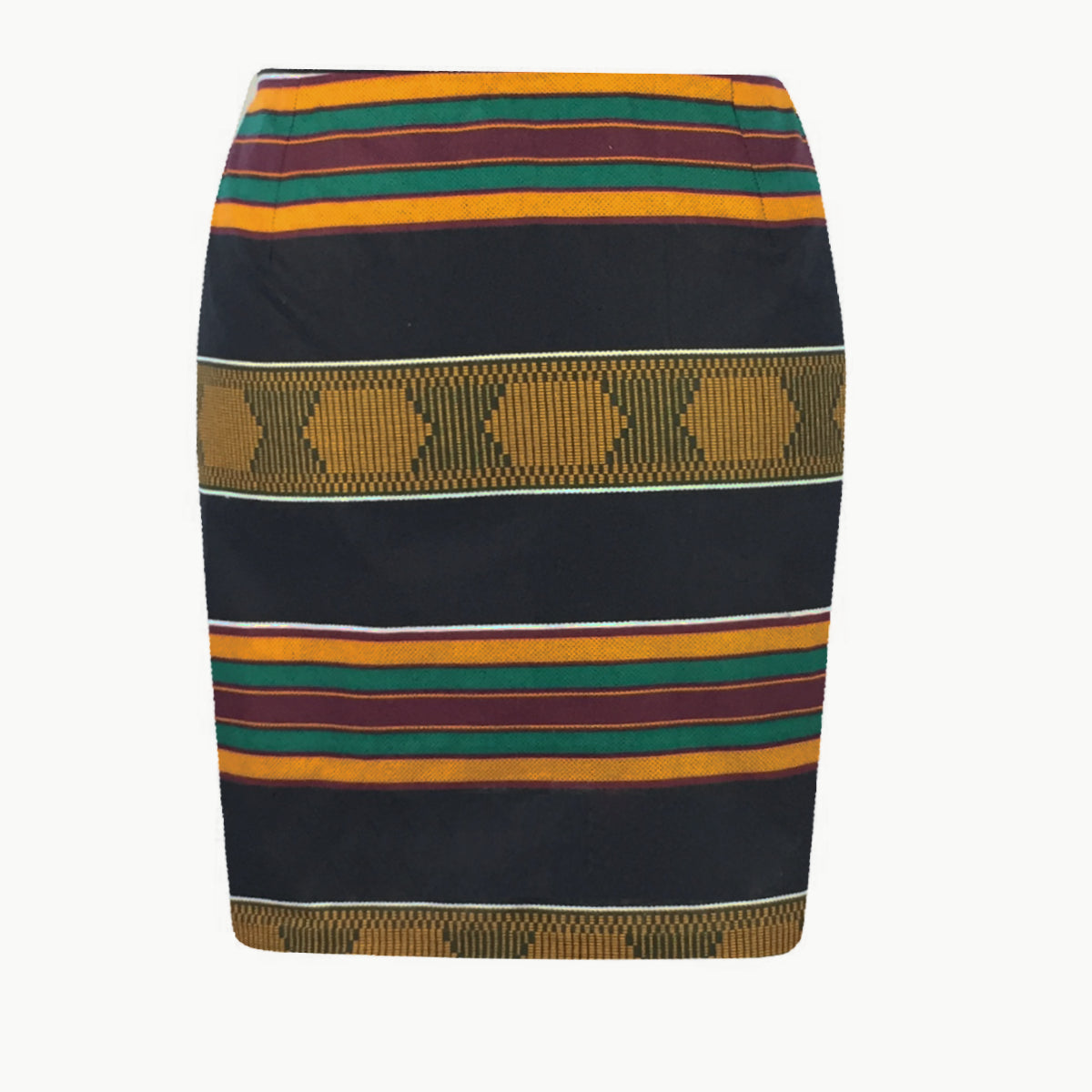Legon Elegance African Print Kente Pencil Skirt