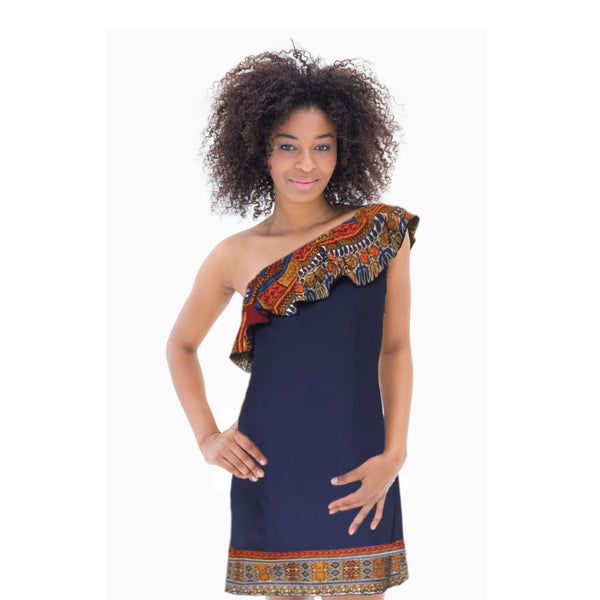 Little Blue Dashiki Dress