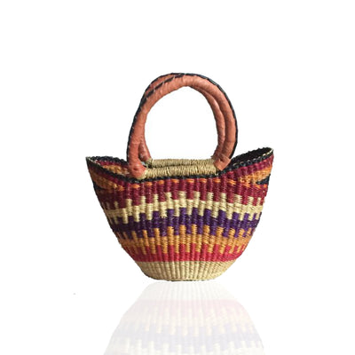 Mini Bolga Basket - Carrot Jazz