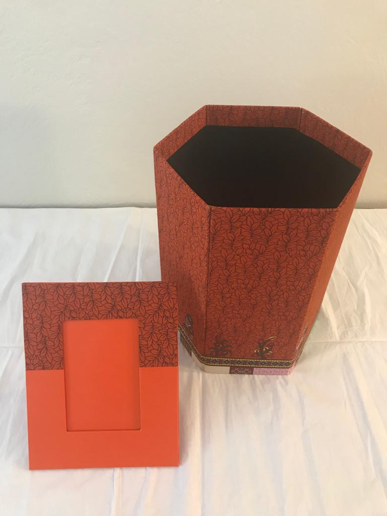 Fancy Bins with Matching Picture Frames by Folake Phillips