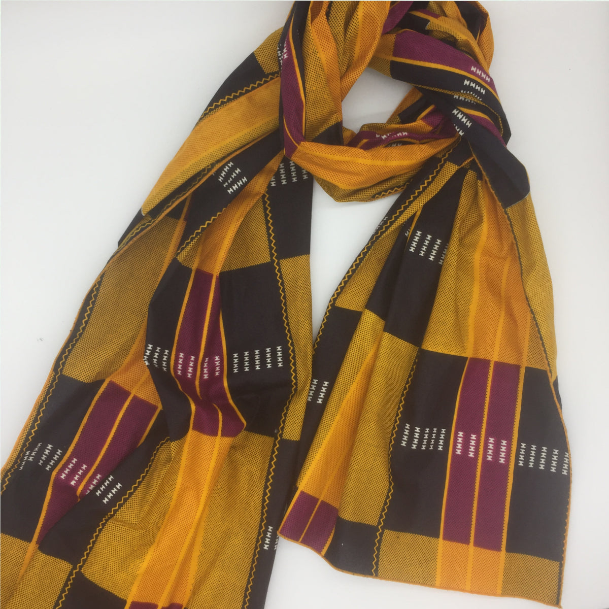 Pumpkin Spice Kente Headwrap