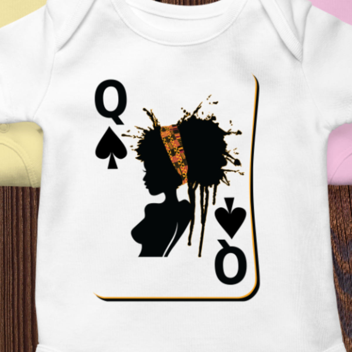 Black Queen Onesie - African Baby Clothes