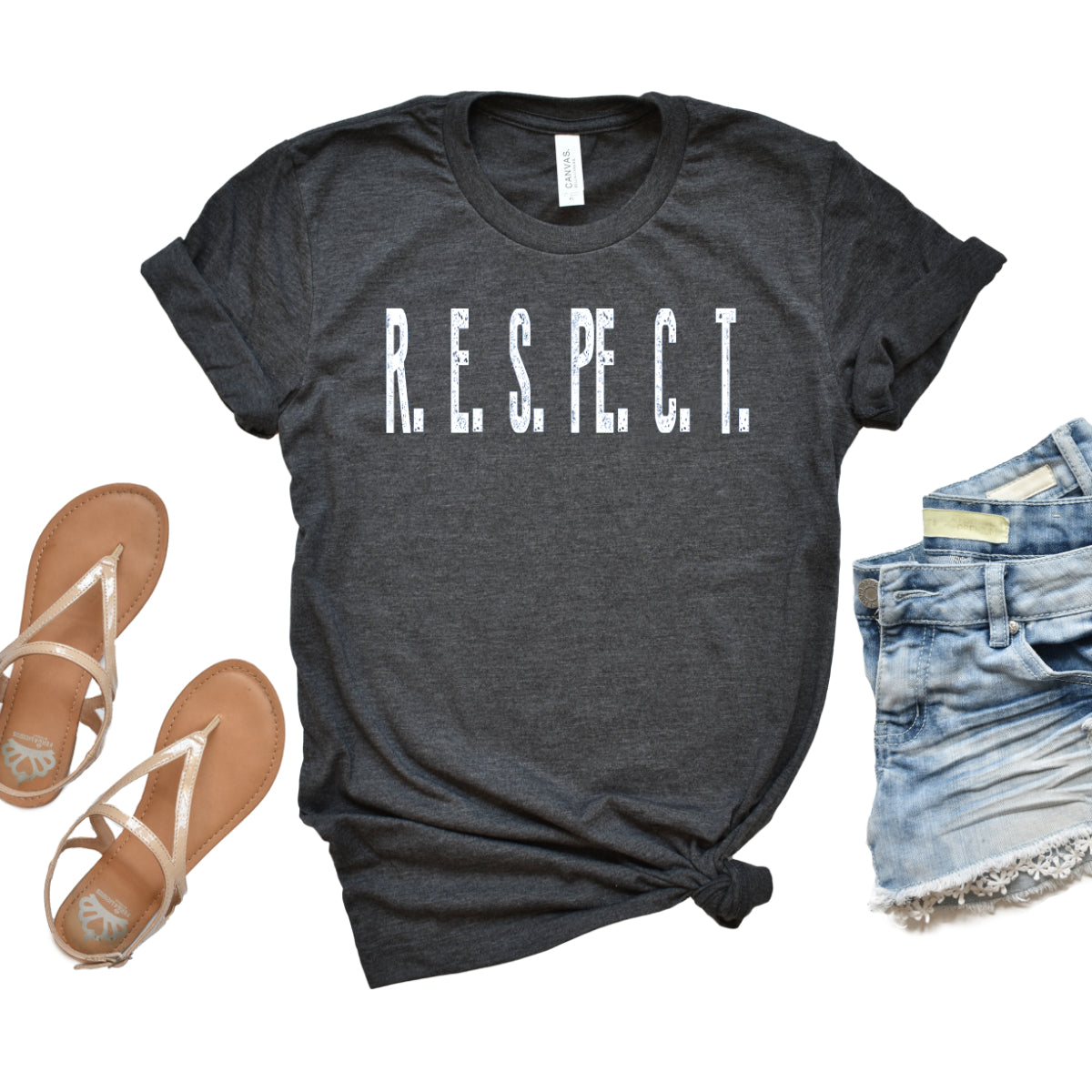 RESPECT -Sleeve Relaxed Fit Tee