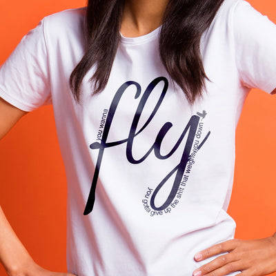 Fly- Toni Morrison Quotes - Relaxed  Fit Tee
