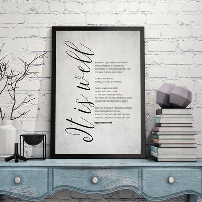When peace like a river lyrics, Art Print
