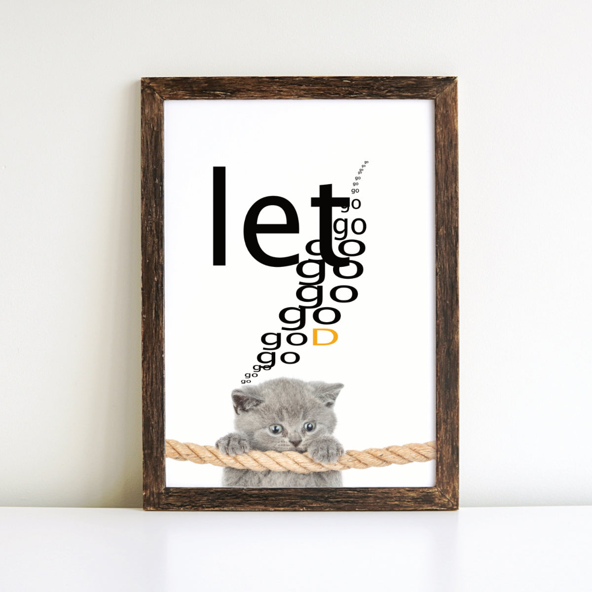 Let Go. Let God. Poster
