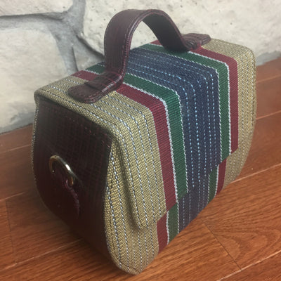 multi colored handbag