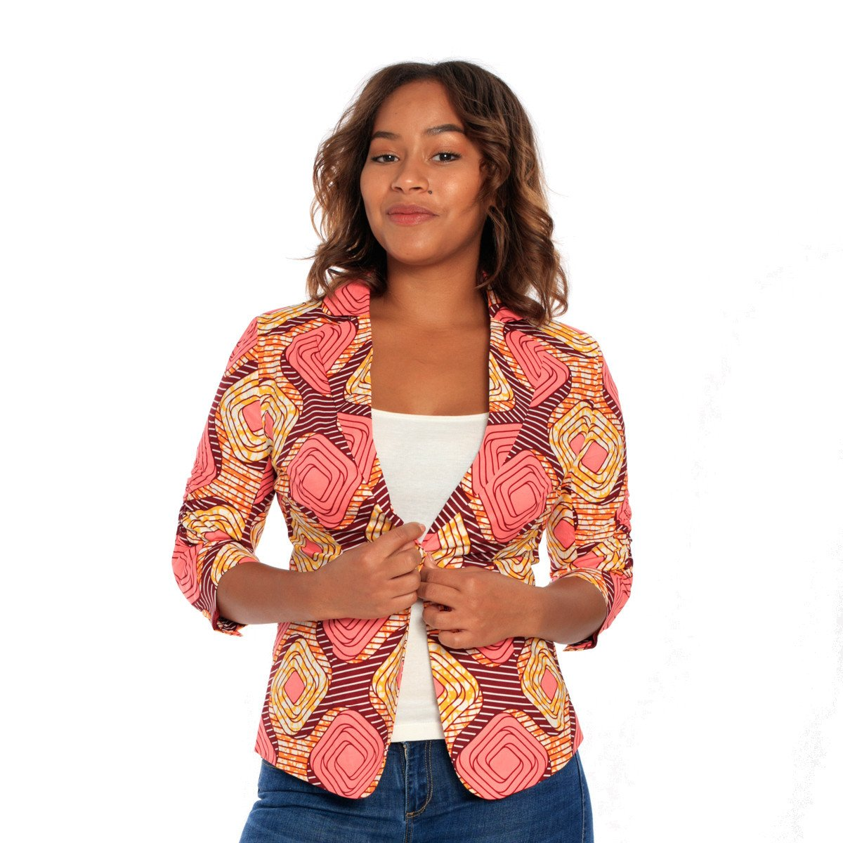 The Pink Ankara Jacket