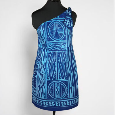 The Watamu True Blue African Print Shift Dress