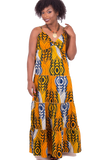 Kayarize - Yellow Belle Summer Dress | African Print Fabric