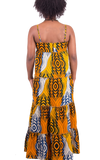 Kayarize - Yellow Belle Summer Maxi Dress | African Print Fabric