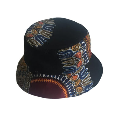 Black Dashiki Bucket Hat