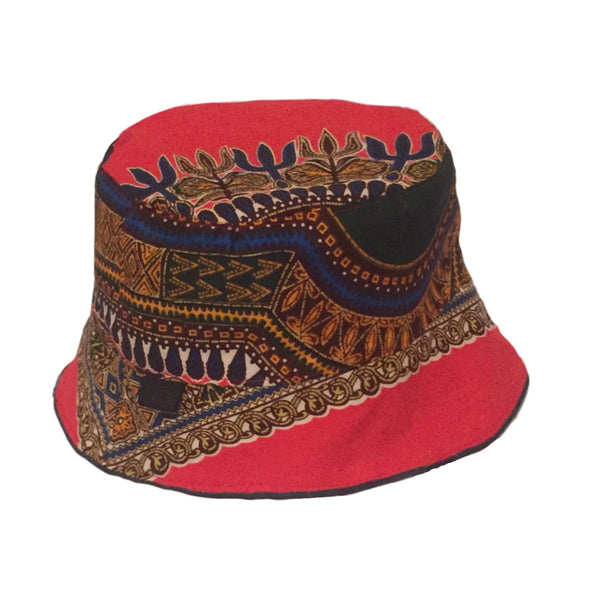 Red and Black Dashiki Hats