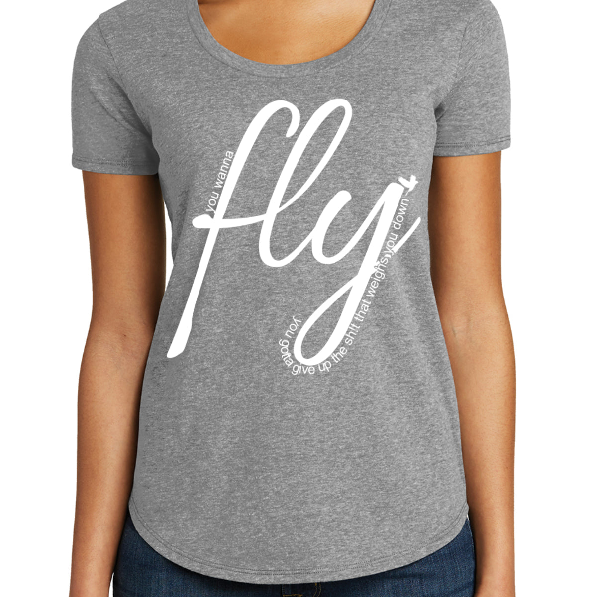 Fly - Women's Scoop Neck Fitted T-shirts