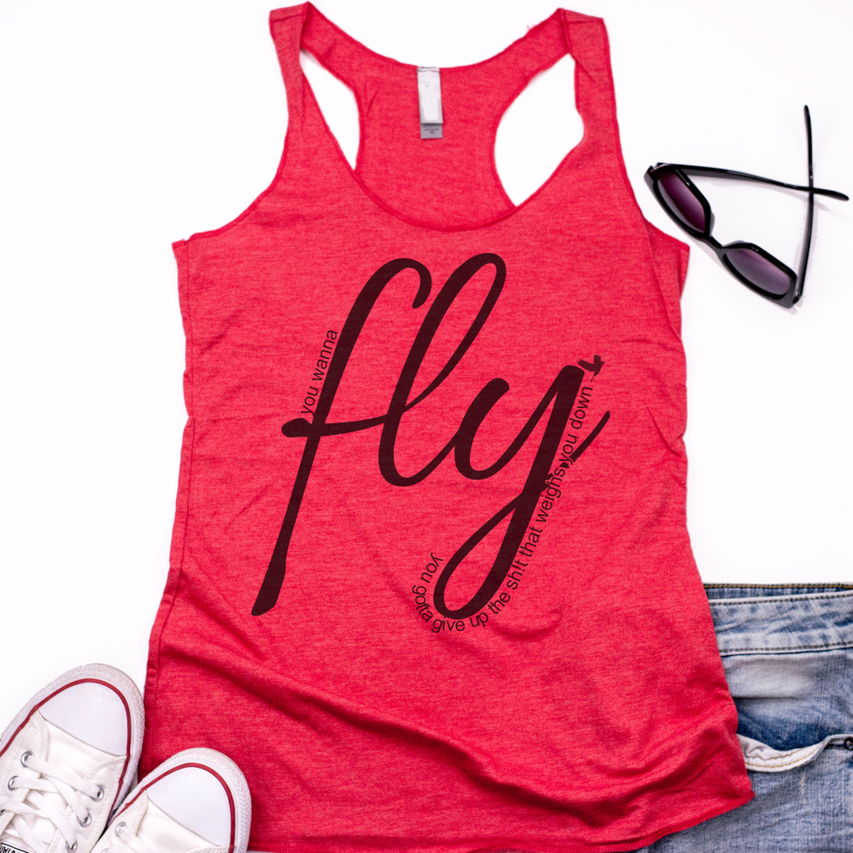 Fly  - Super Soft Racer Back Tank Top
