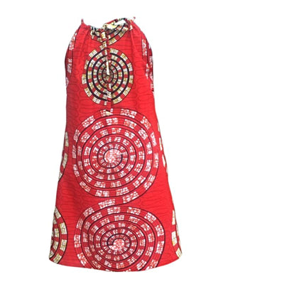The Full Circle African Print Halter Dress