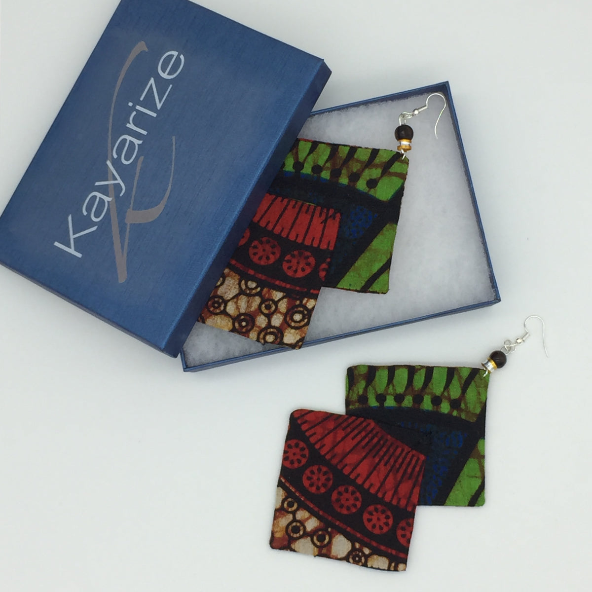 Kidjo Majestic Drops African Print Earrings