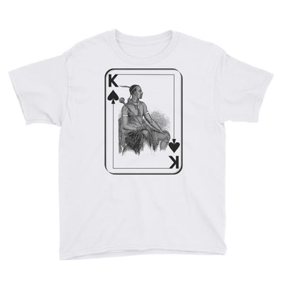 African King of Spades - Youth Short Sleeve T-Shirt (Ages 6 and Over)