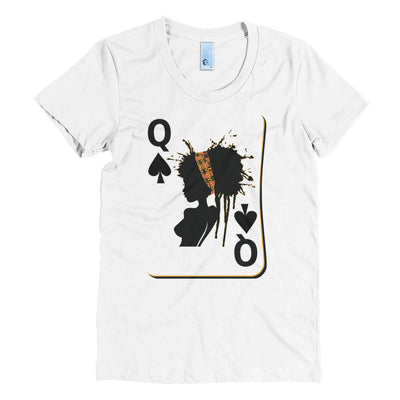 Queen of Spades - Missy Crew Neck Crew Neck Tee