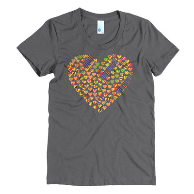 I love Kente - Women's Crew Neck Crew Neck Tee