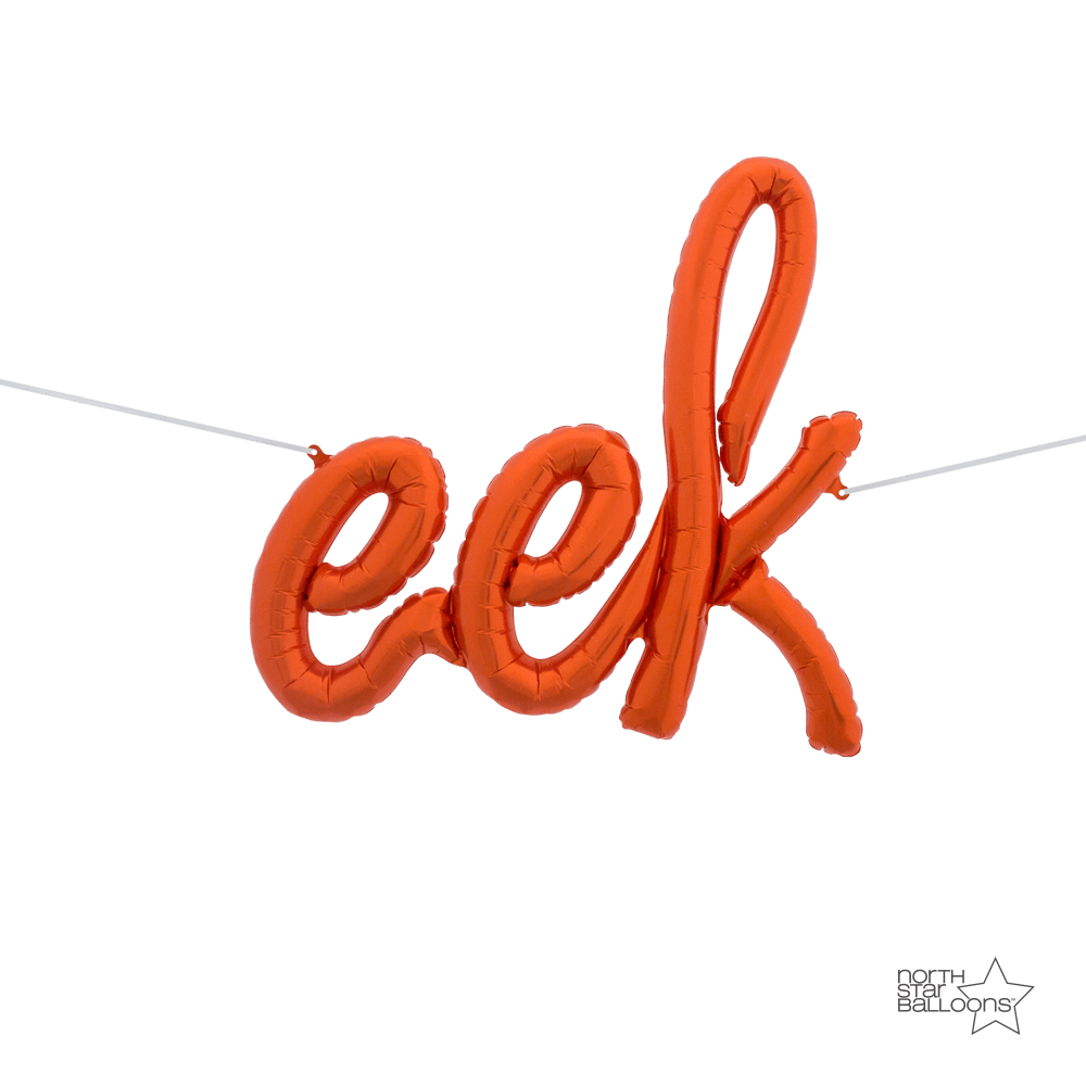 Orange 'eek' Halloween Air Filled Foil Balloon