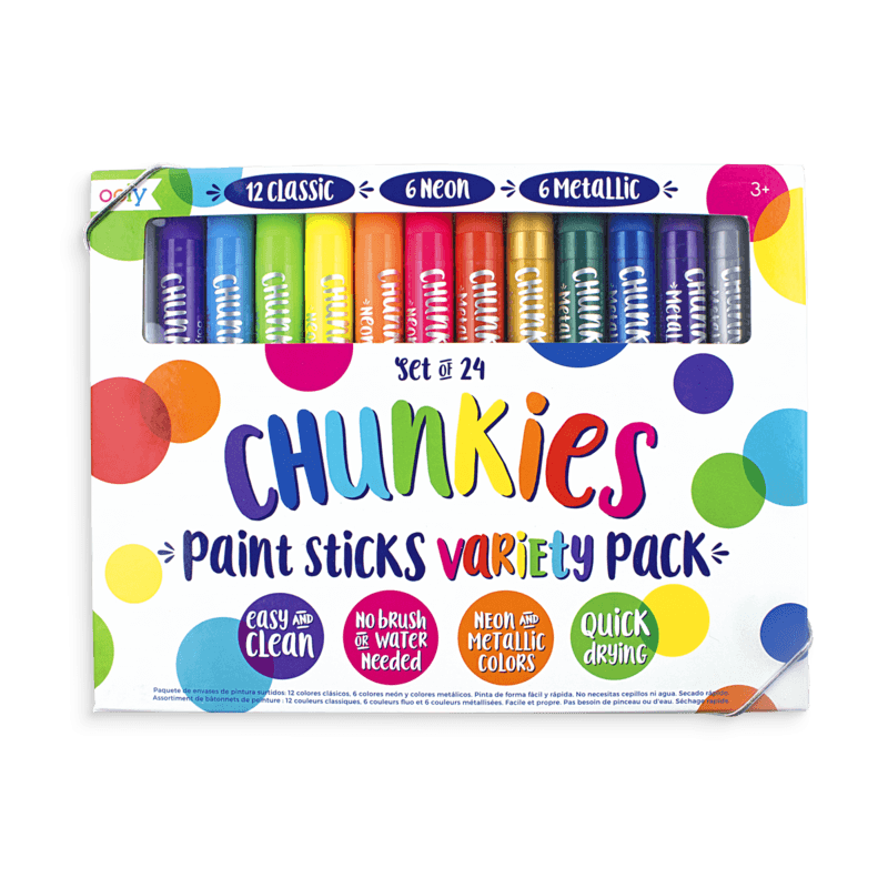 Ooly Chunky Paint Sticks Set 24