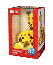 Load image into Gallery viewer, BRIO Pull Along Giraffe