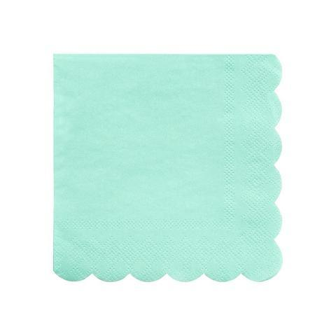 Mint Scalloped Edge Napkins Small