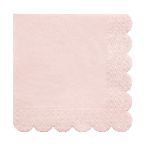 Blush Pink Scalloped Edge Napkins Large