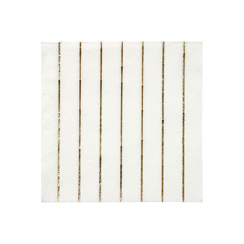 Gold Striped Napkins Small
