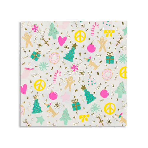 Merry + Bright Large Napkins (Pack 16)