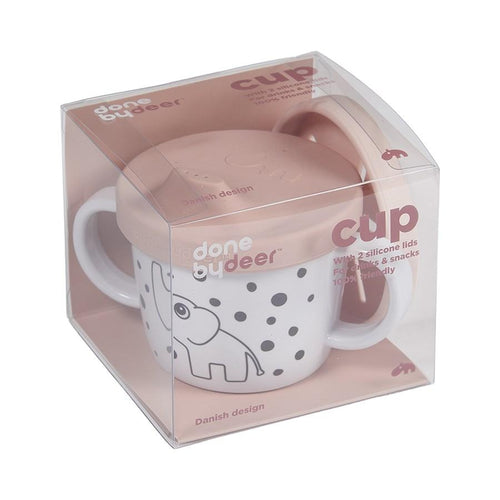 Done By Deer Powder Pink Silicone Spout/Snack Cup