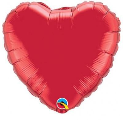Heart Foil Ruby Red 90cm