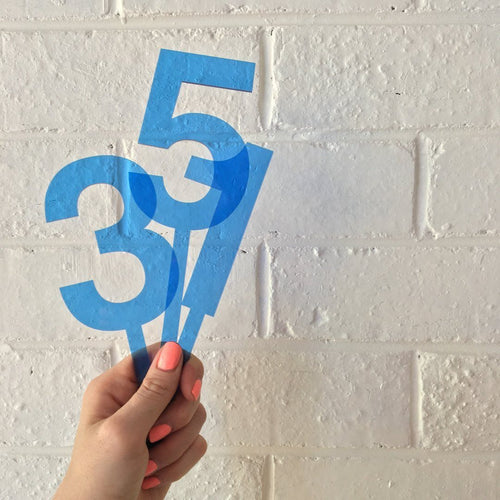 Blue Number Cake Topper