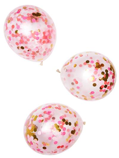 Standard Confetti Balloons Pink Shimmer
