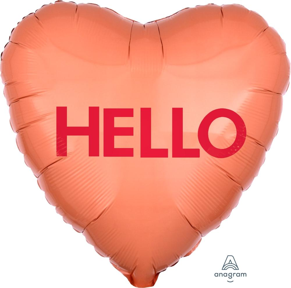 Candy Heart Balloon HELLO
