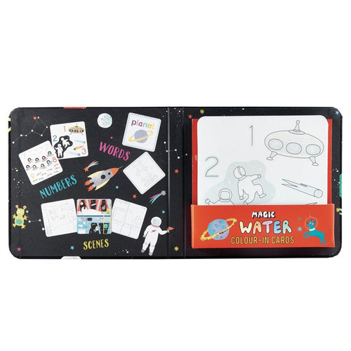 Magic Water Colouring Cards Space