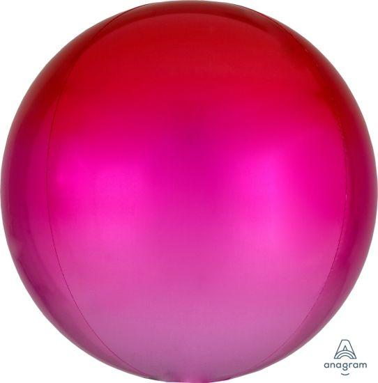Red & Pink Ombre Orbz Balloon