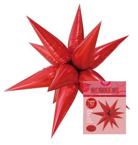 Starburst Decorative Red Balloon 70cm